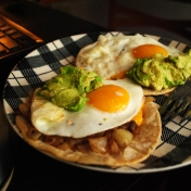 Egg and Guacamole Tostada