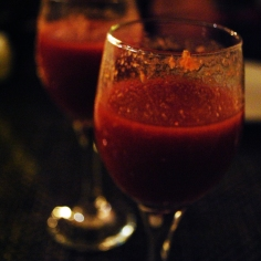 Spicy oyster shooters at The Naked Oyster.