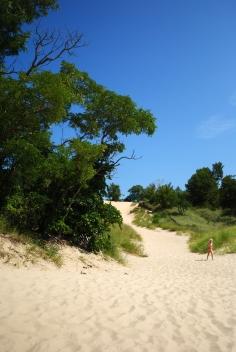 Little girl, big dune.