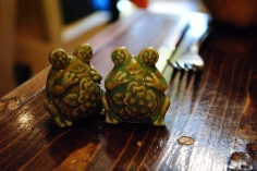 Cute salt-and-pepper shakers at Octave in Chesterton, IN.