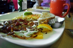 A yummy locally-sourced breakfast at the Third Coast Spice Cafe.