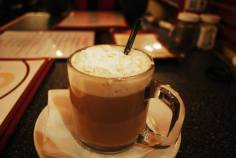 Irish coffee at The Hub, North Adams, MA