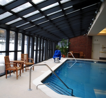 Pool, with glass roof